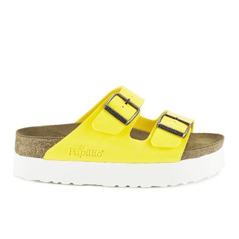 birkenstock women s arizona slim fit double strap platform