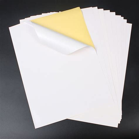 How To Make Adhesive Paper - 100 a4 white self adhesive sticker paper sheet address