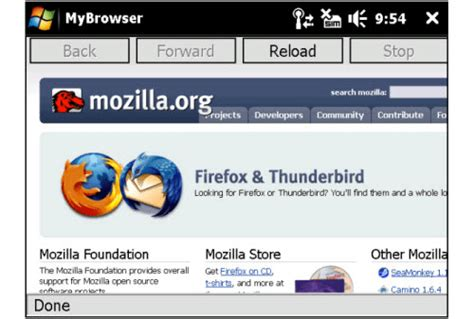 firefox on mobile firefox mobile for pocket pc
