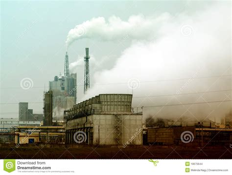 Smoke Comes Out Of Fireplace by Smoke Coming Out Of Factory Chimney Stock Images