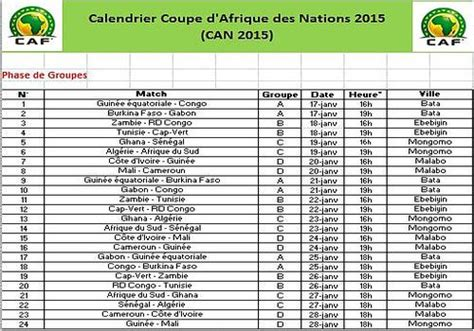 Calendrier Match Ligue 1 Tunisie Can 2015 Calendrier Search Results Calendar 2015