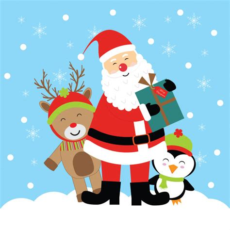 imagenes d santa claus sexi vector cartoon illustration with cute santa claus bring