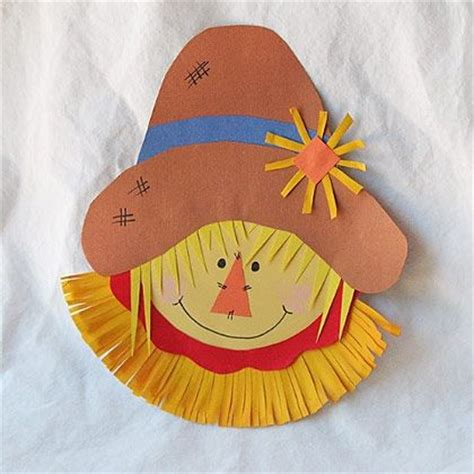 scarecrow paper plate craft paper plate scarecrow teaching