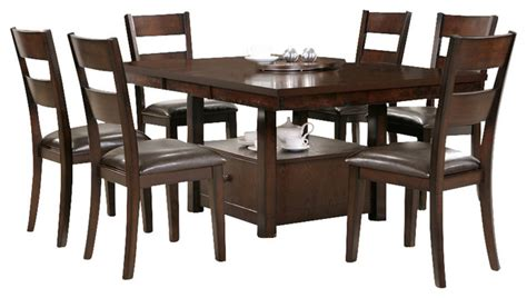 steve silver gibson 9 48 inch square dining room set