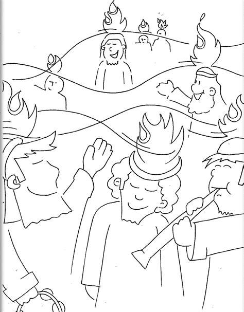 coloring page pentecost pentecost