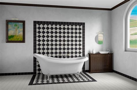 White Grey Bathroom by Winckelmans Victorian Style Quarry Floor Tiles Collection