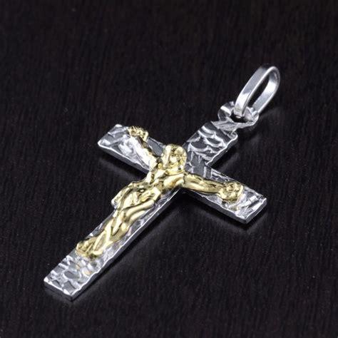 unisex womens mens solid 925 sterling silver jesus cross