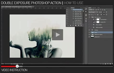 tutorial membuat double exposure photoshop cs3 double exposure photoshop action kreativ
