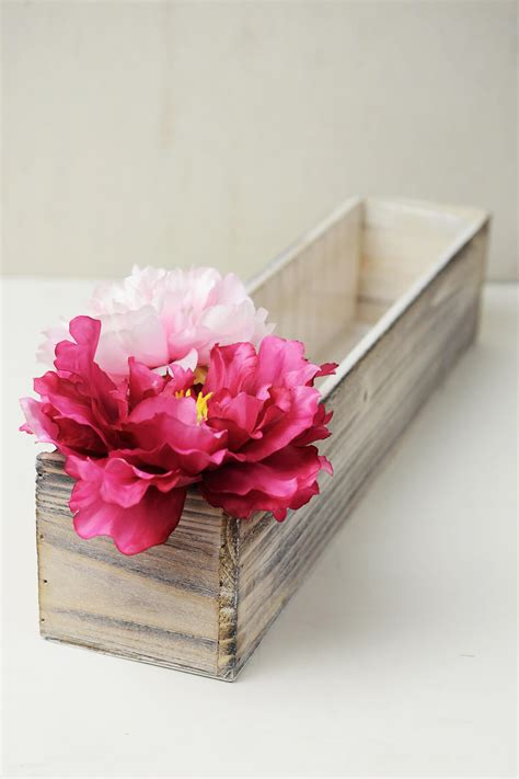washed wood box l white washed wood 20x4 planter box