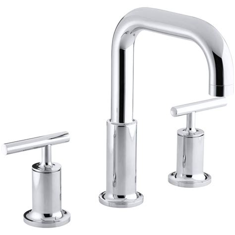 high arc bathroom faucet kohler purist deck mount 8 in widespread 2 handle high