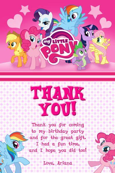 My Pony Thank You Cards Template by 128 Best Images About Invitations On Doc