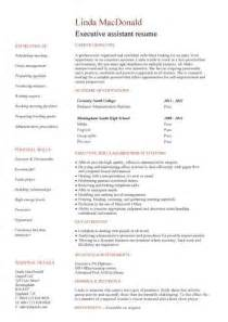 student entry level executive assistant resume template