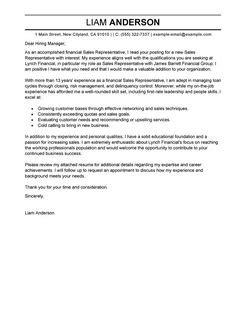 best sales representative cover letter exles livecareer