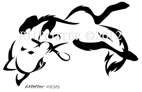 tribal coyote tattoos banner and coyote design by kiwy