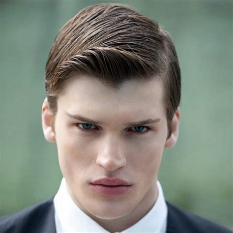 side part slicked hair receding side slick receding hairline 50 classy haircuts and