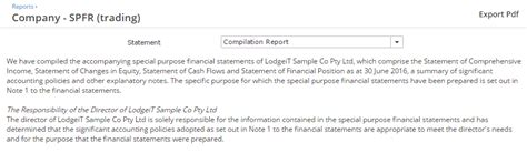 Compilation Reports Template Special Purpose Financial Statements And Reports Tool