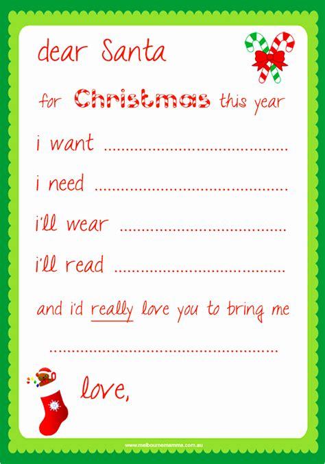 10 printable santa letters template siioo templatesz234