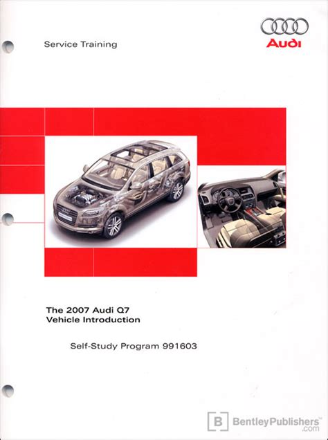 online auto repair manual 2007 audi q7 security system front cover the 2007 audi q7 vehicle introduction self study program bentley publishers