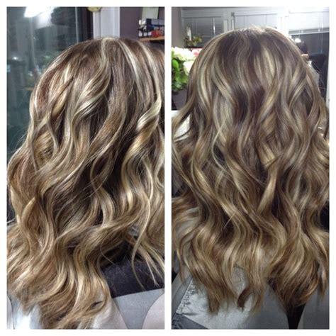 chestnut hair color with caramel highlights blond highlights chestnut brown lowlights long hair