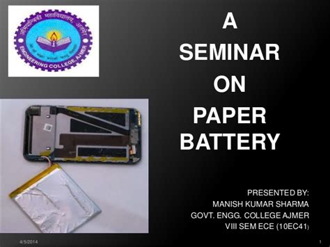 Paper Battery In The Works by Presentation On Paper Battery