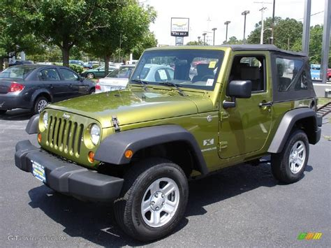 rescue green jeep rubicon 2007 rescue green metallic jeep wrangler x 4x4 13875324