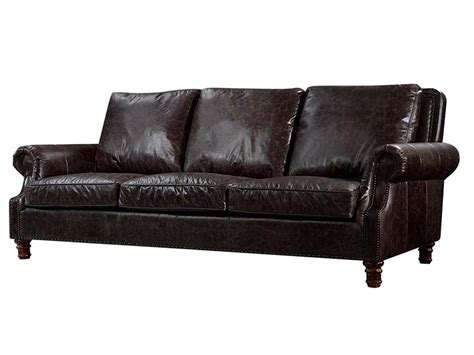 Reclaimed Leather Sofa by Roll Arm Black Antique Leather Sofa Set