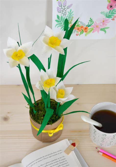 come realizzare i fiori di carta come fare i fiori di narciso di carta tutorial la figurina