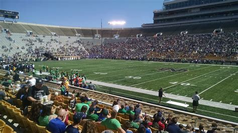 notre dame stadium bench seat notre dame stadium home preferred seating rateyourseats
