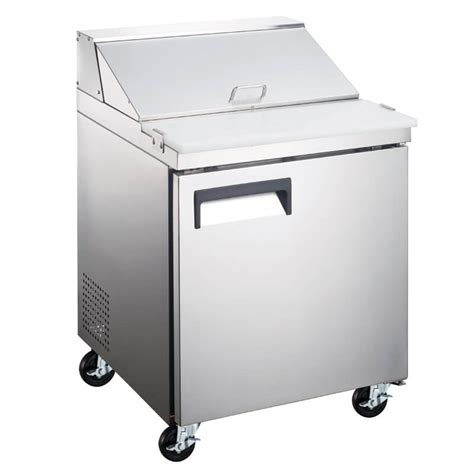 refrigerated sandwich prep table refrigerated salad sandwich prep table 27 inches one door