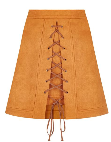 Lilca by Bright Amp Beautiful Lilca 1960s Mod Suedette Mini Skirt In Rust