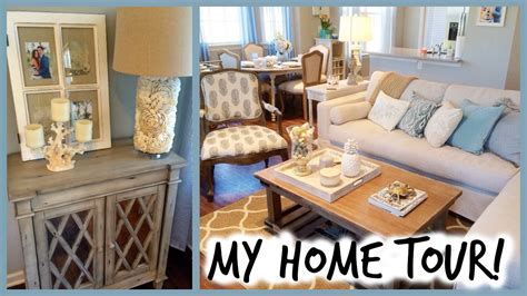 how to decor home home tour coastal decor alexandrea garza youtube