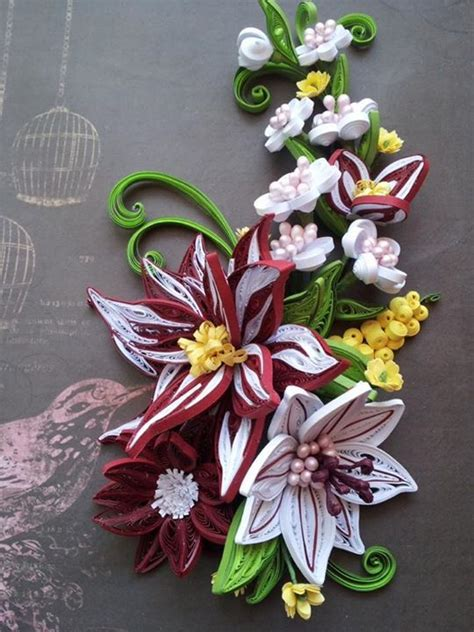 quilling lily tutorial 17 best images about quilling flowers lilies on