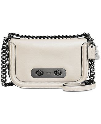 Coach Swagger 27 In Glovetanned Leather With Willow Floral coach swagger shoulder bag 20 in glovetanned leather with