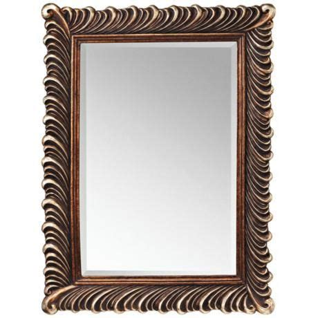 kichler lighting 41033dbk meredith bathroom mirror kichler quill 47 quot high silver and bronze wall mirror