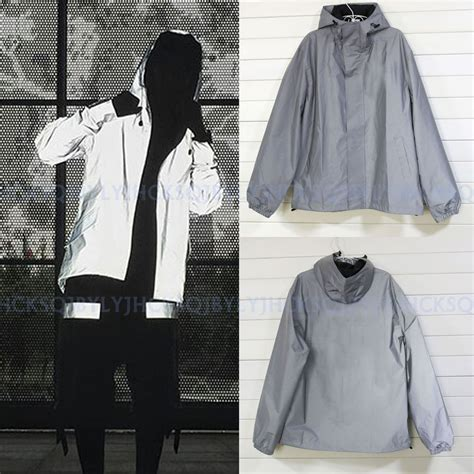 reflective bike jacket s s 3m reflective hooded biker jacket travel hip hop