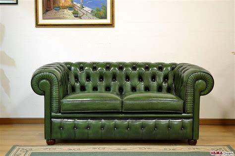 divani in inglese divano chester verde inglese in vera pelle invecchiata a mano