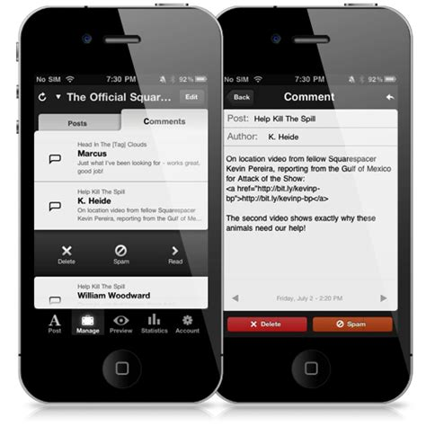 Squarespace For Iphone V1 1 The Official Squarespace Blog Squarespace App Template