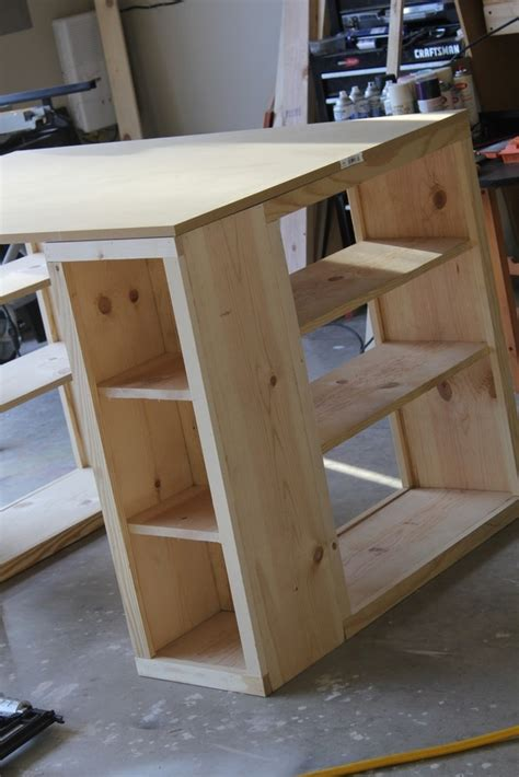 diy bookshelf desk craft room