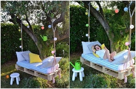 pallet swing bed wooden pallet swing bed ideas recycled things