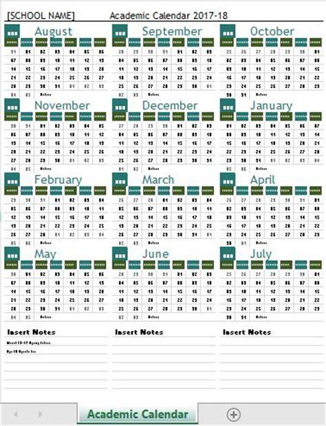 School Calendar Templates 2017 18 Microsoft Word Excel Templates School Calendar 2017 18 Template