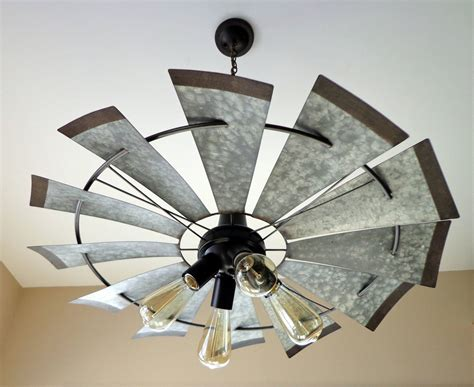 windmill ceiling fan with light kit windmill farmhouse chandelier light the l goods