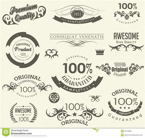 calligraphic text design elements vector calligraphic design elements stock photo image 35216380