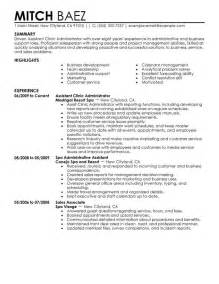 hotel sales administrative assistant resume