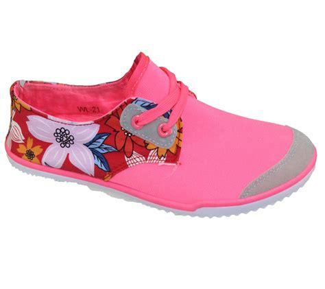 Aldorra Lace Shoes Flat Shoes Premium Black Flowerslace womens lace up pumps flat summer floral caual canvas