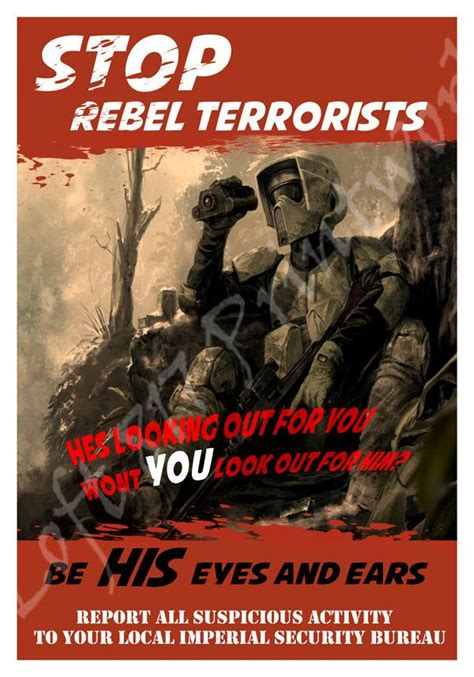 Kaos Wars Pew Pew Pew Premium Quality wars inspired propaganda scout trooper rebel propaganda poster other countries