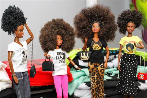 black doll organization curly collective donates black haired dolls