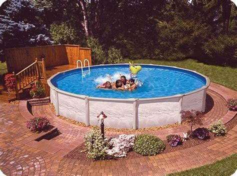 aboveground pool landscaping 4 water features pinterest
