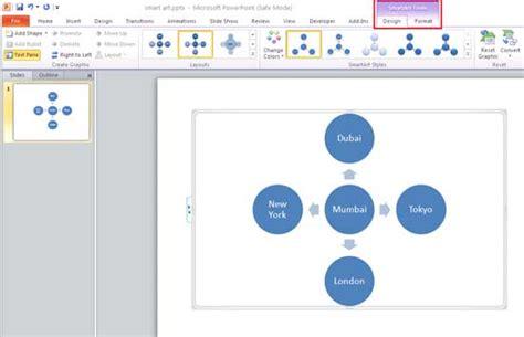 powerpoint design tab apply smartart styles in powerpoint 2010 powerpoint