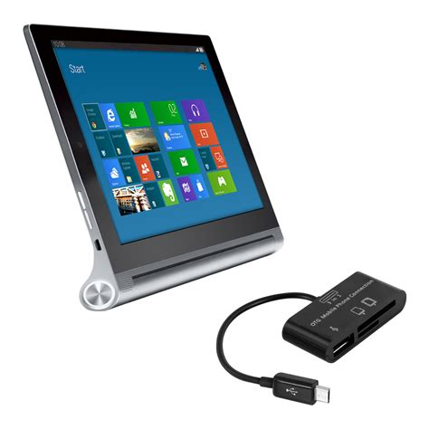 Usb On The Go Lenovo kwmobile 3 in 1 micro usb card reader for lenovo