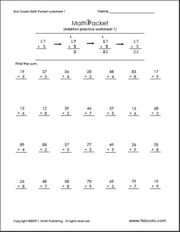 Second Grade Math Worksheet by Git417 2 2 2nd Grade Math